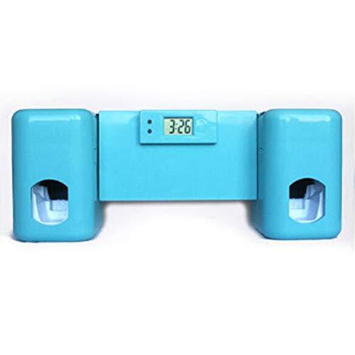Romsion Home Voor 2 in 1 Tandenborstel Houder Set Automatische Tandpasta Dispenser Muur Gemonteerd Tandpasta Squeezer