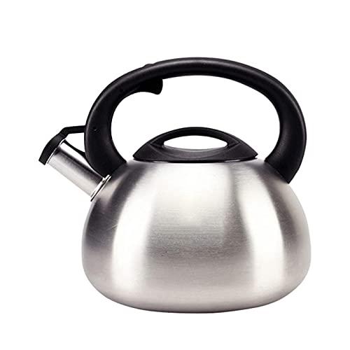 bollitore da tè 2,5 l / 3,5 l Bollitore da tè con fischio in Acciaio Inossidabile Chirurgico per Piano Cottura Porta di iniezione d'Acqua di Grande Diametro Interruttore a Un Pulsante Bollitore da t