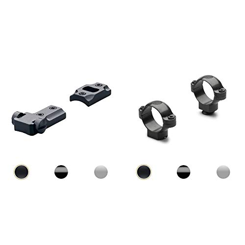 "Leupold Standard Two-Piece Scope Base Matte, Remington 700 + Leupold Standard Scope Rings Matte ,1"" Medium"