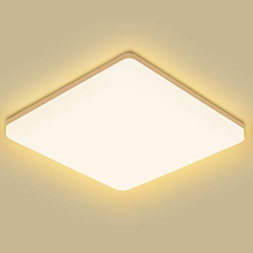 OEEGOO Deckenlampe led Deckenleuchte Warmweiß 3000K, 24W 2400lm(100Lm/W), IP44 Wasserfeste Badezimmerlampe, Küchenlampe, Badleuchte, Wohnzimmerlampe, Schlafzimmerlampe, Kinderzimmerlampe