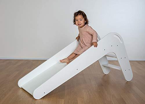 Kinderrutsche VIVA aus hochwertigem Echtholz, Modell Weiß