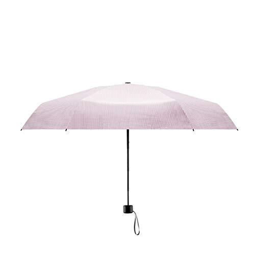 Actual Sonnenschirm klein und tragbar faltbar Sonnenschirm Regenschirm Doppelnutzung Herren Damen Sonnenschirm hohe Qualität, rose (Pink) - 39355