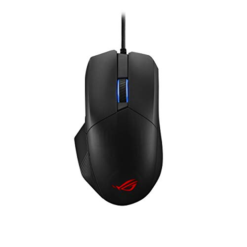 ASUS Optical Gaming Mouse - ROG Chakram Core | Wired Gaming Mouse | Programmable Joystick, 16000 dpi Sensor, Push-fit Switch Sockets Design, Adjustable Mice Weight, Stealth Button, RGB Mouse