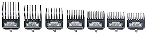 Andis Master Series Premium Metal Hair Clipper Attachment Comb 7 Piece Set, 33645