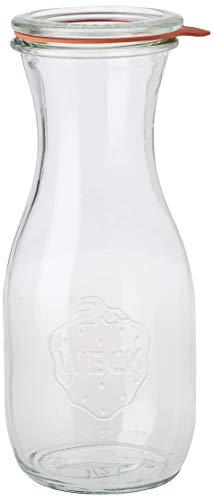 Saftflaschen mit Deckel, Einkochringen und Einweckklammern - Füllmenge: 500 ml - 4 Stück
