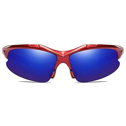 LCSD Gafas de sol para hombre Ciclismo Deportes Antideslumbrantes Material PC Gafas de sol Marco Rojo Azul Oscuro/Amarillo Verde Lente Hombres Y Mujer...
