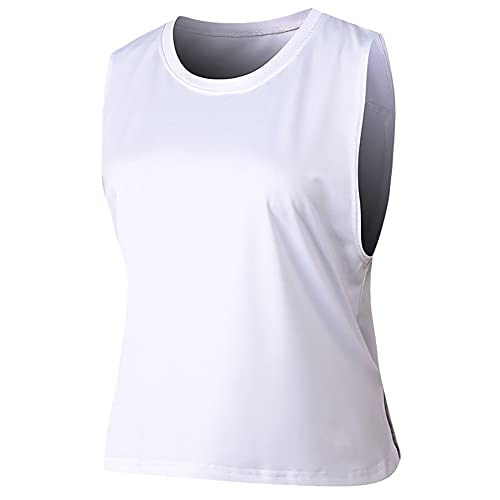 DaobaWOMEN Camisetas sin mangas ligeras para mujer, ajuste holgado, para correr, gimnasio, yoga, etc