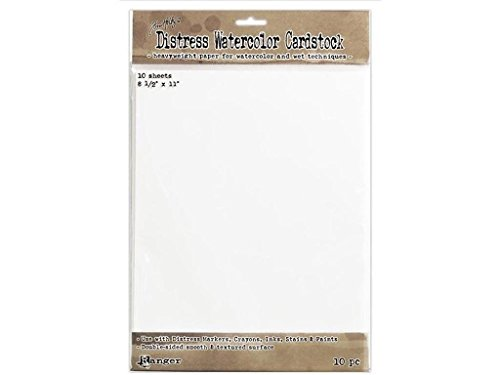 Ranger TH Cardstk THoltz Distress Watercolor Cardstock