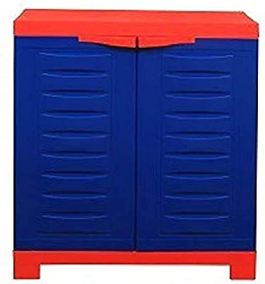 Supreme Fusion 1 Multipurpose Cabinet (2 x 2 FEET) for Multipurpose Storage for Home (Red/Blue)