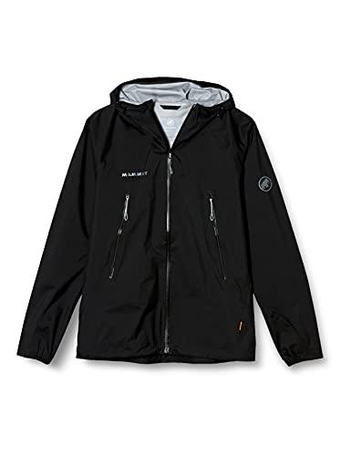 [MAMMUT]ハードシェルジャケット ハードシェル マサオ ライト HS フーデッド ジャケット アジアンフィット メンズ 1010-27100 メンズ black EU S (日本サイズM相当)