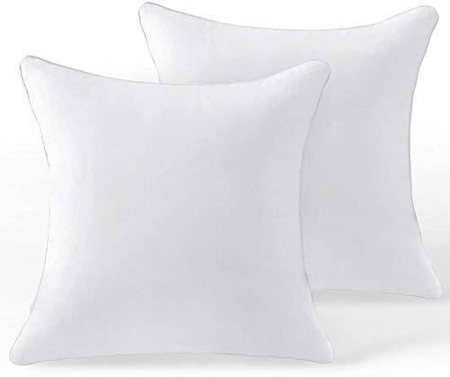 Premium quality 2-Pack-20-x-20-Inch-Square-Pillow-Inserts-for-Sofa,-Decorative-Throw-Pillow-Inserts-with-100%-Cotton-Cover,-Pure-White(50 x 50cm cushion inner/50x50 cushions/throw pillows)