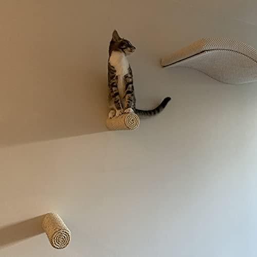 Capri Corner Sisal Stufe, Wand Kratzstamm für Katzen Catwalk Wandpark (3 Stück)