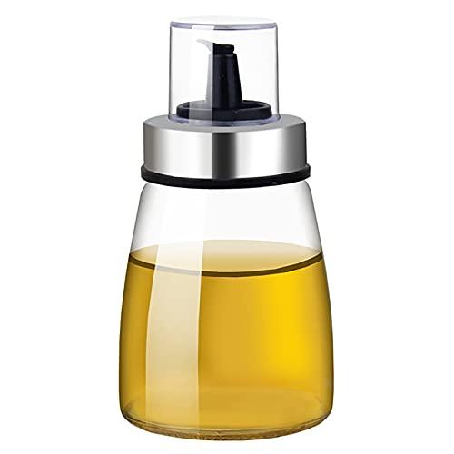 Dispensador de aceite de oliva de cono Botella de aceite de vidrio Botella de aceite cruets sin goteo Contenedor de aceite de oliva sin plomo Caño recto 180ml
