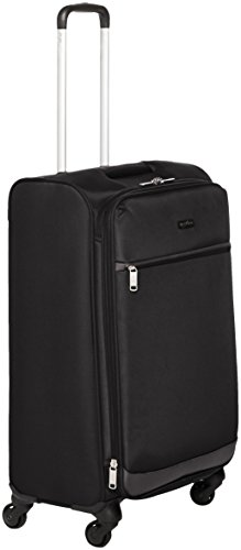 Amazon Basics - Trolley morbido con rotelle girevoli, 64 cm, Nero