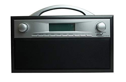 Elta Radio DAB/DAB + con cassa in legno in 2colori batteria o rete Funzionamento possibile nero/grigio