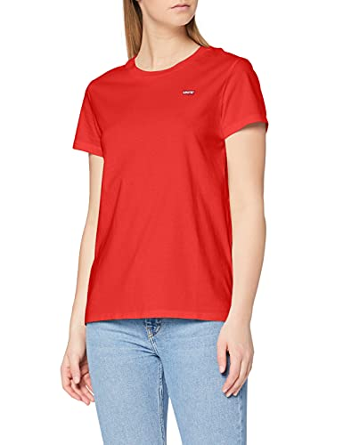 Levi's Perfect Tee T-Shirt, Red (Tomato 0082), Small Donna