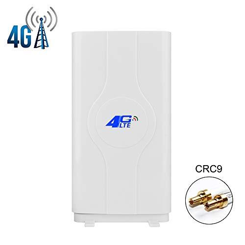 NETVIP 35dBi 2 x CRC9 4G Hochleistungs LTE Antenne mit hoher Reichweite für Mobile Hotspots 4G 3G LTE MIMO Signal Verstärker Antenne für Huawei E3276 EC3372 Netgear 340U 341U 782s 785z 790s