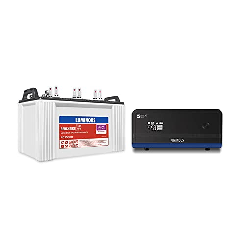 Luminous Zelio1100 Inverter with Red Charge 15000 120 Ah Tubular Battery