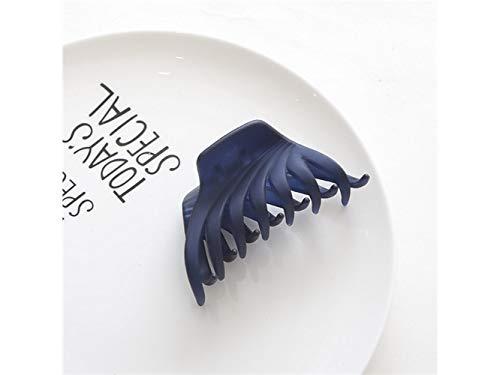 Belle pince à cheveux Pince À Cheveux De Mode Acrylique Bonbons Couleurs Clips De Douche Beaux Clips De Cheveux Polyvalent Accessoires Outil De Coiffage Pour Les Femmes (Bleu Foncé)