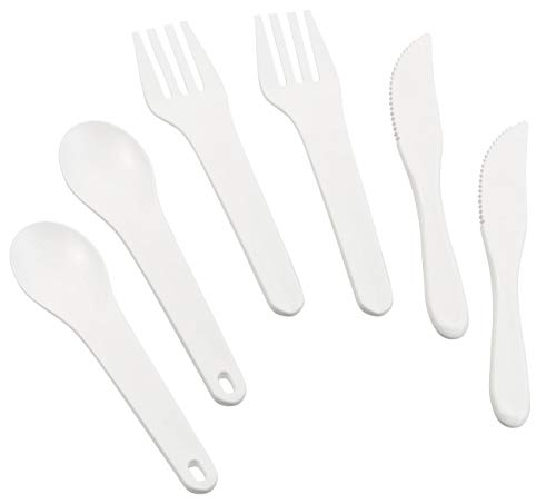 PEARL Trekkingbesteck: 2er-Set Besteck für Pausensnack & Picknick, mit Messer, Gabel & Löffel (Besteck-Reisesets)