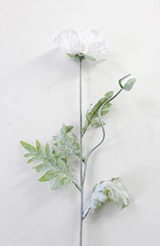 70cm lente 2 hoofden klaproos kunstbloemen diy bruiloft kerstfeest huisdecoratie zijden bloemen muur materialen, wit