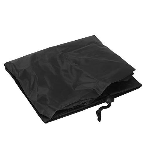 Uxsiya Mantel de 47 x 47 cm, fácil de llevar, práctico para el exterior, color negro
