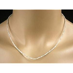 Diamant Collier in weiß, Rohdiamanten, 23 ct, Seltenheit!