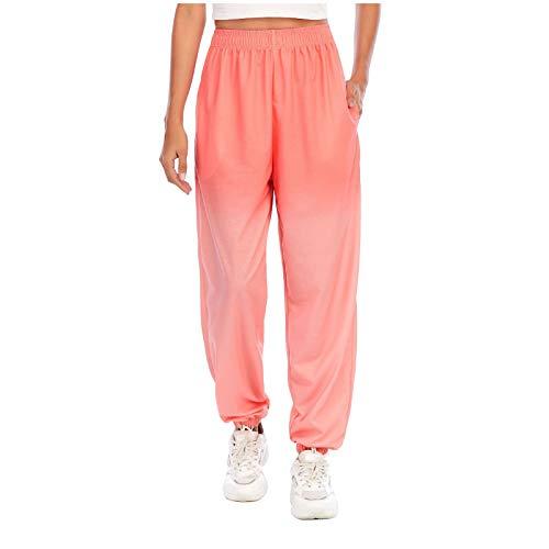 Mujer Pantalones de Chándal Holgados con Estampado de Camuflaje y Llama,Damas Pantalones Deportivos de Gran Tamaño Loose Cintura Elástica Joggers Lounge Pants Suelto Color de Gradiente Hip Hop