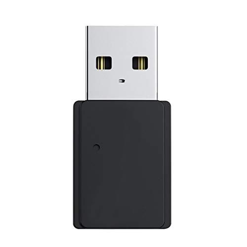 Eariy Adaptador USB Bluetooth 5.0, transmisor de audio Bluetooth, adaptador inalámbrico, para ordenador PC, ideal para sistema de sonido en streaming de música en casa (negro)