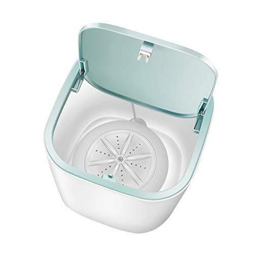 Wasvidra Mini lavadora, eléctrica, compacta, lavadora, ahorro de energía, para ropa interior, calcetines, mini lavadora, portátil, USB, máquina de limpieza a pequeña escala,...