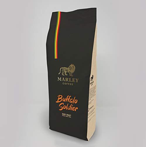 Buffalo Soldier Dunkel geröstete Kaffee Bohnen, Marley Coffee, aus der Familie von Bob Marley, 1kg Kaffeebohnen Ganze Bohne dark roast coffee beans