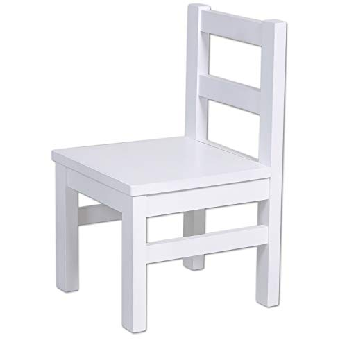 Betten-ABC Bubema Kinderstuhl, Weiß lackiert, aus massiver Kernbuche, extra stabil