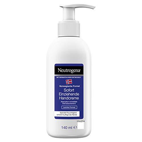 Neutrogena sofort einziehende Handcreme im Pumpspender, Leichte Formel, (2 x 140 ml)