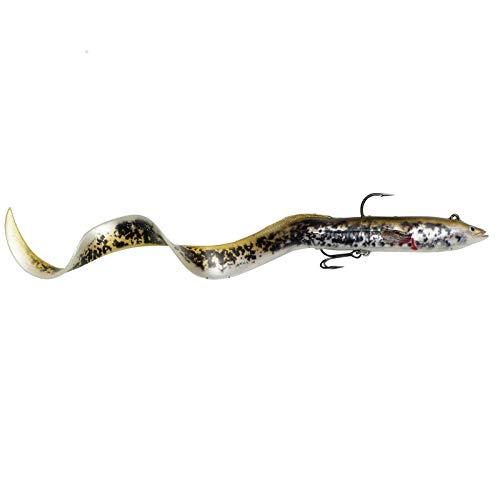 Savage Gear 4D Real Eel - Aal Gummifisch für Hecht, Farbe:Olive Pearl PHP, Länge / Gewicht:30cm / 80g