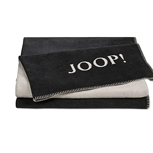 Joop! Plaid Uni-Doubleface | Anthrazit-Ash - 150 x 200 cm