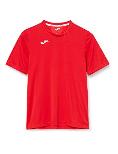 Joma Combi Camiseta Manga Corta, Hombre, Rojo (Burdeos), L
