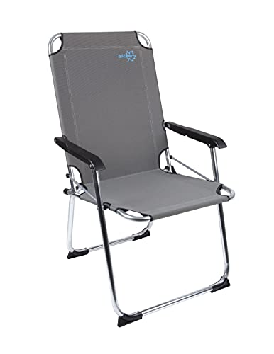 Bo-Camp Alu Campingstuhl Copa Rio Comfort Klapp Stuhl Sessel Garten Stuhl Angel beige