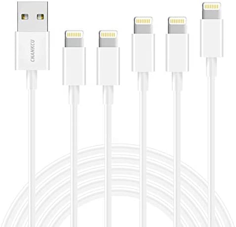 CNANKCU iPhone Charger MFi Certified Lightning Cable 5 Pack 3 3 6 6 10ft Durable High Speed product image