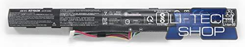 LI-TECH Akku kompatibel mit 2800mAh für Acer Aspire E17 E5-774G-59BD Schwarz Notebook