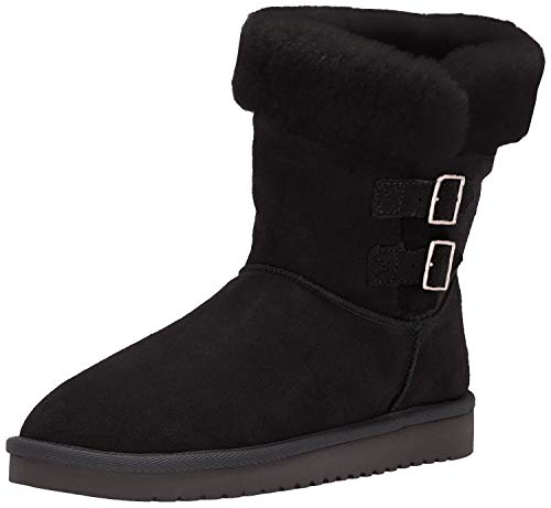 Koolaburra by UGG Women's Sulana Short Fashion Boot, Black, 10 M US