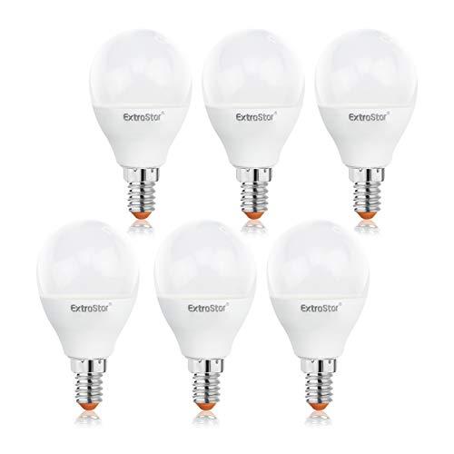 ExtraStar E14 LED Lamp G45 - E14 LED Birne 6W ersetzt 48W Halogenlampe, Warmwei(3000K), 480lumens, Nicht Dimmbar Energiesparlampe, LED Leuchtmittel E14, AC 220V-240V - 6er Pack [Energieklasse A+]