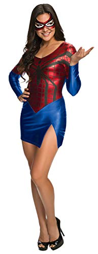 Secret Wishes Women's Marvel Universe Spider-Girl Costume Dress and Mask, Multicolor, Small