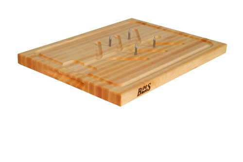 John Boos Reversible Cutting Board with Spikes