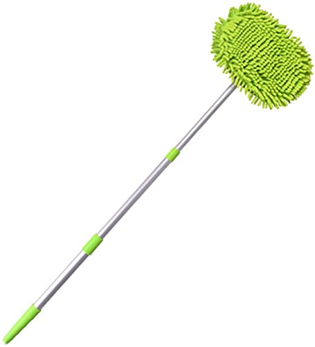 COLiJOL Car Duster Car Wash Cleaning Brush Adjustable Dust Removal Dust Rotating Retractable Mop Household Cleaning Car Seat Windows,Green,One Size