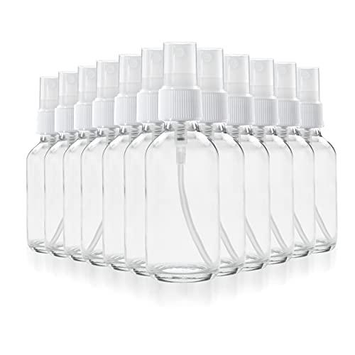 1790 botellas de aceite esencial de vidrio transparente, botellas de vidrio pequeñas de 2 onzas, botellas de vidrio para aceites esenciales, sin BPA, sin toxinas, mini botella de spray (80 unidades)