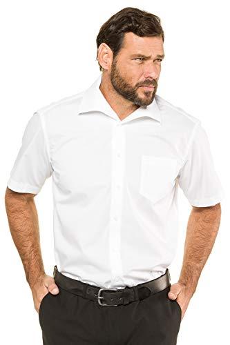 JP 1880 JP 1880 Herren große Größen Übergrößen Menswear L-8XL bis 8XL, Kurzarm Businesshemd aus Reiner Baumwolle, mit Brusttasche, Variokragen & Comfort Fit weiß XXL 705178 20-XXL