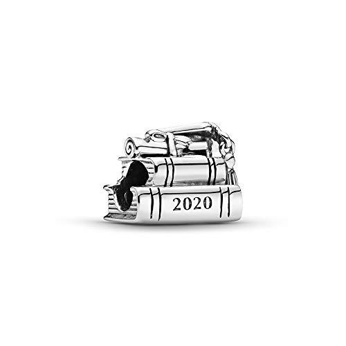 Pandora Schulabschluss 2020 Bücher Charm, 798910C00, Silber, 0,96cm