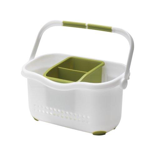 Addis Waschbecken-Aufbewahrungskorb weiß/grün