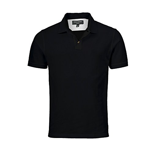 BANANA REPUBLIC Mens Dress Polo Shirt (Black, Large)