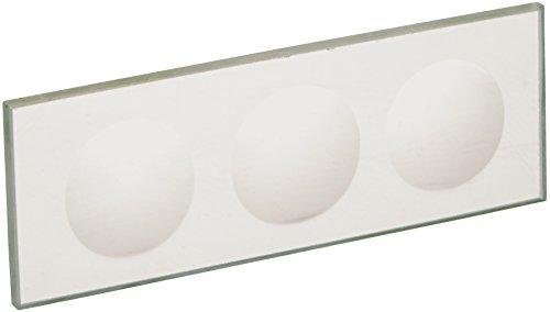 United Scientific CSTK03 Glass Microscope Slide, 3 Concavities (Pack of 12)